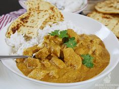 This slow cooker butter chicken recipe is perfect if you're feeling like a nice warm creamy curry for lunch or dinner. Spicy Recipes, Slow Cooker Recipes, Crockpot Recipes, Chicken Recipes, Butter Chicken Sauce, Slow Cooker Chicken Healthy, Curry Spices, Beef Curry, Homemade Butter