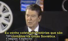 Ronald reagan contando piadas soviéticas e cubana