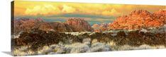 Premium Thick-Wrap Canvas Wall Art Print entitled Cliffs in Snow Canyon State Park, Washington County, Utah, None