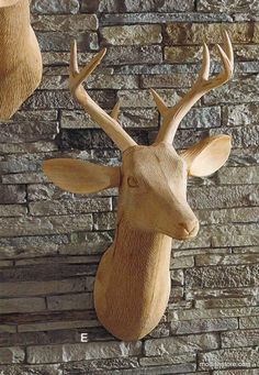 Roost Carved Wood Deer Head, Facing Left – Modish Store