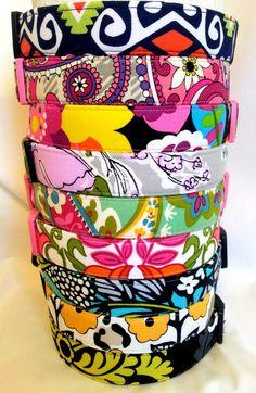 Vera Bradley Dog Collars  (Summer 2013) on Etsy, $22.50