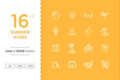 Summer Icons by filborg on @creativework247