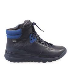 ΑΝΔΡΙΚΑ ΜΠΟΤΑΚΙΑ ΑΔΙΑΒΡΟΧΑ ΔΕΡΜΑΤΙΝΑ CAMPER (BLUE) Hiking Boots, Winter, Blue, Men, Shoes, Fashion, Walking Boots, Moda, Zapatos