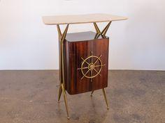 Gio Ponti Style Nautical Marble Dry Bar