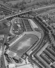 view from above Bristol Rovers Fc, Millwall Fc, Image Foot, Bristol England, Leeds United, Hill Station, Local History, Old Pictures, Britain