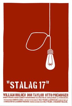 Stalag 17 movie poster (1953).   Poster design: Saul Bass