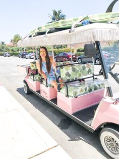 The Pink Retreat Recap & Tips! Colony Hotel Palm Beach, The Colony Hotel, Palm Beach Resort, Palm Beach Florida, Beach Trip, Beach Travel, Wine Cart, Custom Golf Carts, Uber Ride