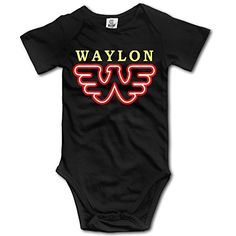 Novelty Baby Onesie Waylon Jennings Flying Retro Buddy Holly Short Sleeve Bodysuit * Check this awesome product by going to the link at the image.Note:It is affiliate link to Amazon.
