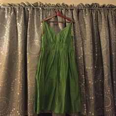 Liz Claiborne Bright Green Tea Length Dress Sz 12 Liz Claiborne Tea Length Green Dress, Size 12.  Part of the Acrylic Brights collection.  Full skirt.  Hits mid calf.  Deep V neckline, front and back.  Back zipper.  Never worn. Liz Claiborne Dresses