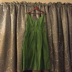 Liz Claiborne Bright Green Tea Length Dress Sz 12 Liz Claiborne Tea Length Green Dress, Size 12.  Part of the Acrylic Brights collection.  Full skirt.  Hits mid calf.  Deep V neckline, front and back.  Back zipper.  Never worn. Liz Claiborne Dresses