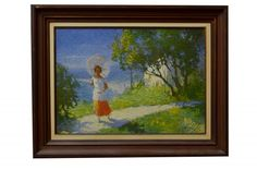"Noel Quintavalle (1893 - 1975) Escola italiana - ""Figura de mulher"", o.s.t. - 45 x 63 cm. A"