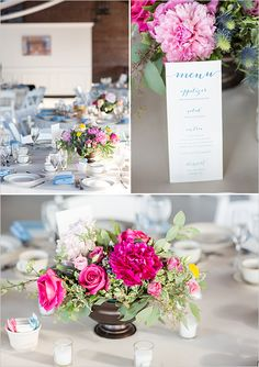 pink and blue reception details #receptiondecor @weddingchicks