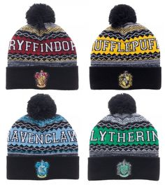 9b39d6a141a43 Harry Potter Beanie Winter Hat Gryffindor Slytherin Ravenclaw Hufflepuff  House  Bioworld  Beanie Harry Potter