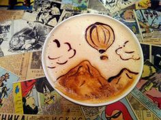 A cup 'o' magic | The 40 Most Amazing Examples Of Coffee FoamArt