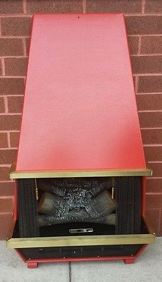 Vintage Faux Electric Fireplace by LOOKINGforYESTERDAY on Etsy