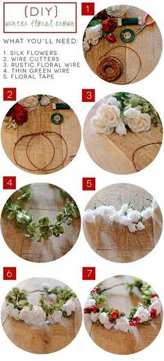 DIY Flower Crown Tutorial! Definitely need to try this.