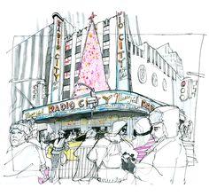 Brett Affrunti, Radio City Music Hall during the Holidays. New York, NY