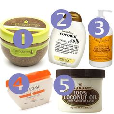 I swear by #3, it makes my hair feel so soft and nice. Shea Moisture products works well for almost all hair types.