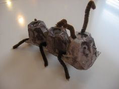A is for Ant...Ant craft out of Egg Cartons