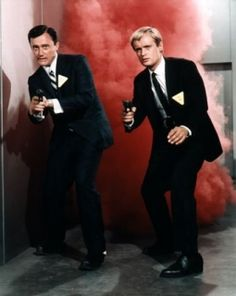 The hit TV show 'The Man From U.' with Robert Vaughn as Napoleon Solo and David McCallum as Ilya Kuryakin. I spent those four years with such a crush on David McCallum.(now he's on NCIS! Man From Uncle Movie, The Girl From Uncle, Spy Shows, Old Tv Shows, Movies And Tv Shows, Sean Penn, Catherine Deneuve, Merle Oberon, Movies