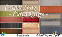 Sims 4 CC's - The Best: Carpet Long - Extra Large - by Annett85