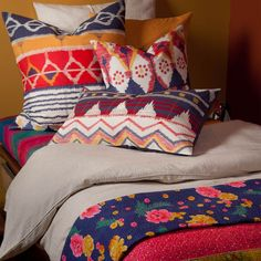 You can't really tell from far away--but these pillows are embroidered!