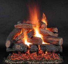 "Gas Logs :: Rasmussen :: Rasmussen Vented Log Sets :: 42+ inch :: Rasmussen 96"" TimberFire Log Set - Double Face - PH96"