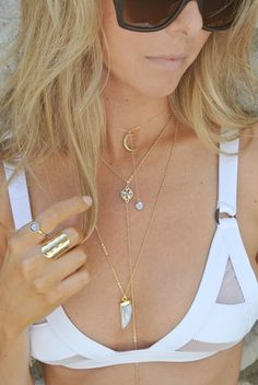 ALBY HORN PENDANT #liliclaspe #Jewelry
