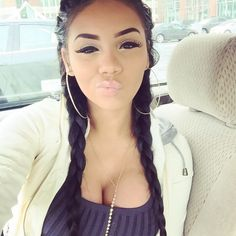 Aaleeyah Petty Pretty Girl Swag Urban Streetwear Style Trend Flawless Makeup Double Side Braids Pigtails Dope
