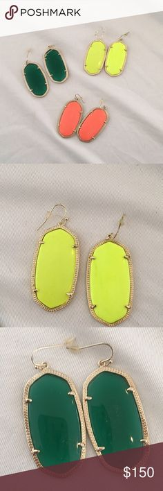Kendra Scott Danielle Earrings Kendra Scott Danielle earrings - can be sold as a group or individually. Kendra Scott Jewelry Earrings