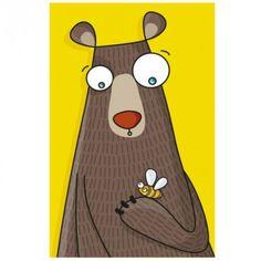 Ce tableau ours de la marque Série-Golo est un décor plein de couleurs à fixer au mur d'une chambre d'enfant.