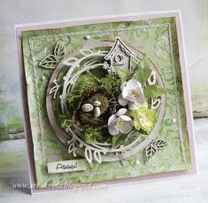 Easter Projects, Easter Crafts, Craft Projects, Vintage Cards, Vintage Paper, Hoppy Easter, Easter Card, Homemade Modern, Mixed Media Cards