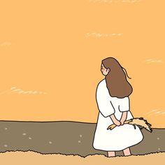 Girl Cartoon, Cute Cartoon, Cartoon Art, Korean Illustration, Cute Illustration, Kawaii Wallpaper, Cartoon Wallpaper, Trippy Cartoon, Arte Alien