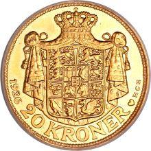 Denmark, Denmark: Christian X gold Specimen 20 Kroner 1926.