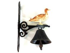 French Vintage Cast Iron Bell/Vintage Dinner by SouvenirsdeVoyages