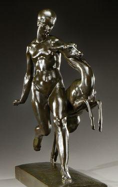 ** PIERRE TRAVERSE (1892-1979) Joseph, Antoine Bourdelle, Eclectic Style, Bronze Sculpture, Geometric Shapes, Art Deco, Statue, Design, Sculptures