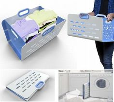 UnHampered foldable laundry basket for space-cramped apartments