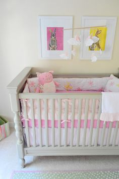 Love the trimmed out legs on this crib! So fun and surprising. House Crashing: Cozy & Full Of Character | Young House Love