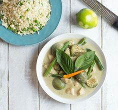 Thai Green Curry with Chicken from Meg is Well