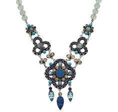 Nicky Butler Raj Clover Drop Gemstone Necklace