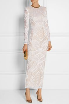 Balmain | Knitted midi dress | NET-A-PORTER.COM