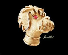 Vintage Signed Trifari Poodle Pin http://www.jeweldiva.com/vintage-signed-trifari-poodle-pin.html