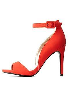 Peep Toe D'Orsay Ankle Strap Heels: Charlotte Russe
