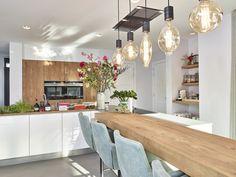 Boho Kitchen, Cherry Cabinets Kitchen, Kitchen Remodel Small, Kitchen Remodel, Kitchen Bar Table, Interior, Kitchen Design, Small Kitchen Remodel Cost, Kitchen Dining Room