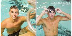 Senior swimming photos at the pool.  Inspired Focus Photo & Design » Cedar Falls, Waterloo & Iowa Modern Photographer