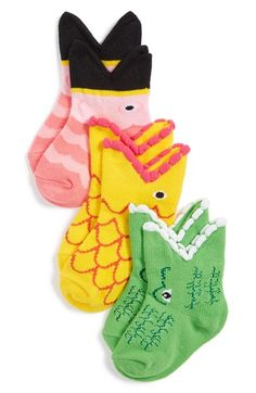 K+Bell+Socks+K.+Bell+Socks+'Tropical+Trio'+Socks+(3-Pack)+(Baby)+available+at+#Nordstrom