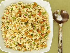 Rice Pilaf from Alton Brown. Delicious! I love to make this. It makes a ton so there's leftovers for a couple days.