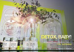 BRUNETTE ♥ TEATOX / starte mit uns die 14-tage-detox-kur SKINNY DETOX von @teatox / probiere bei deinem nächsten besuch auch die sorten DAILY BALANCE / PURE BEAUTY / POWER DETOX / mach' dich fit für den frühling / préparez-vous pour le printemps / get ready for springtime / #betterthanbotox #insideout #bonjourprintemps / ✃ ✁ ✃ ✁ ✃