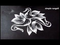 how to draw beautiful indian birds rangoli art designs || simple kolam designs || muggulu designs - YouTube