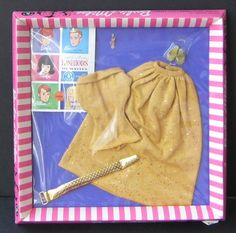 Vintage Barbie c. 1964 Golden Evening #1610 (top and skirt were also sold as part of PAK) Barbie Box, Play Barbie, Barbie Dress, Vintage Barbie Clothes, Vintage Dolls, 1970s Dolls, Barbie Wardrobe, Barbie Accessories, Barbie Collector